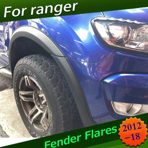 Image 1 - 3 Inch Fender Flares Wheel Arch For Ford Ranger  T6 T7 2012 2016 2017 2018 Wildtrak Double Cabin