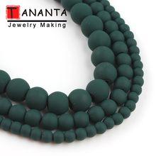 Perles naturelles en hématite vert foncé, 15 pouces, pour la fabrication de bijoux, collier et Bracelet perlé, 4/6/8mm