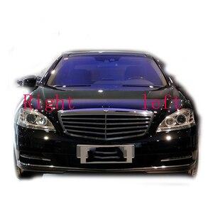 Image 5 - Masque de protection en verre, pour Mercedes Benz W221 S280 S300 S350 S500, phares avant, cache de lampe transparente