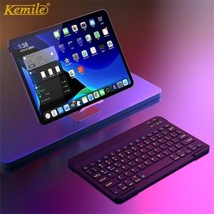 Image 1 - 超スリムロシアスペイン bluetooth ios android タブレット windows ipad 7.9 9.7 空気 10.5 プロ 11 bluetooth キーボード