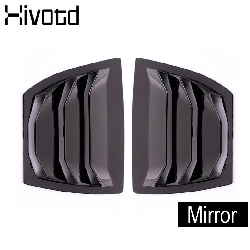 Hivotd For Mazda 3 Axela 2017 Hatchback Sedan accessories Rear Window Triangles Bowl Ventilation Panels Trim Cover Car Styling in Chromium Styling from Automobiles Motorcycles