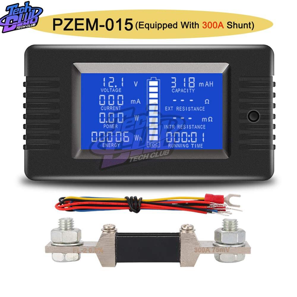 PZEM013 DC 0-200V 10A Voltmeter Ammeter Car Battery Tester Capacity resistance electricity Voltage Meter monitor 12v 24v 48v 96v
