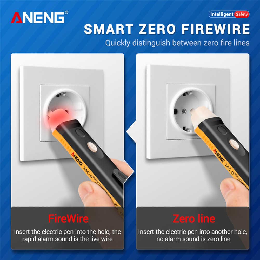 전기 테스트 펜 비 접촉 테스트 펜 90-1000V AC 전원 유도 전압계 전압 프로브 전력 검출기 소켓 테스트 연필
