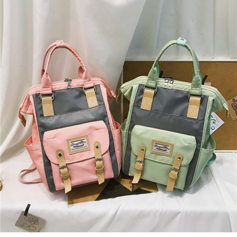 New Style Children Storage Mom And Baby Diaper Bag Outdoor Large-Volume Casual Waterproof Nylon Hand Donuts Backpack