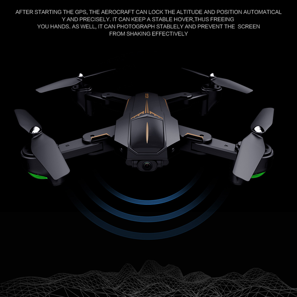VISUO XS812 GPS RC Drone with 4K HD Camera 5G WIFI FPV Folding Drone Headless Mode GPS Follow Gesture Drone for Adult VS XS809S 5