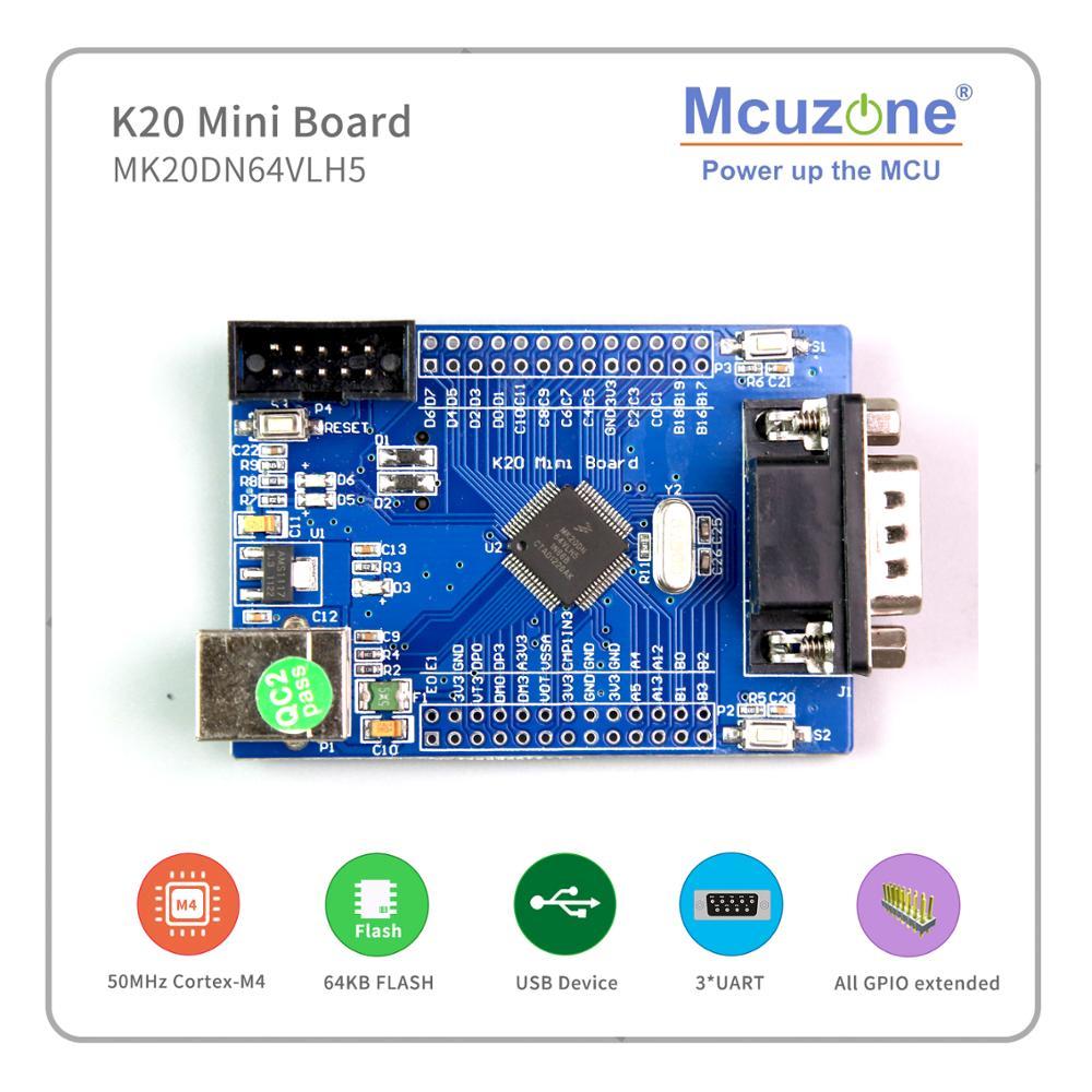 Freescale Kinetis MK20DN64VLH5 Mini Board,K20 50MHz Cortex-M4, USB OTG, 16Bit ADC, 3UART