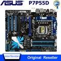 Материнская плата LGA 1156 Asus P7P55D DDR3 1156 Core i7/Core i5 USB2.0 SATA II P7P55D Intel P55 оригинальная настольная Материнская плата Asus