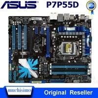 LGA 1156 Asus P7P55D placa base DDR3 1156 Core i7/Core/i5 USB2.0 SATA II P7P55D Intel P55 Original escritorio utilizado Asus placa base Placas base     -