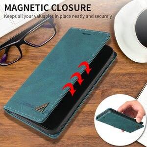 Image 4 - For Realme C11 C 15 Flip Case Magnet Texture Leather Shield RFID Blocking 360 Protect for OPPO Realme C15 Case Realmi C 11 Funda