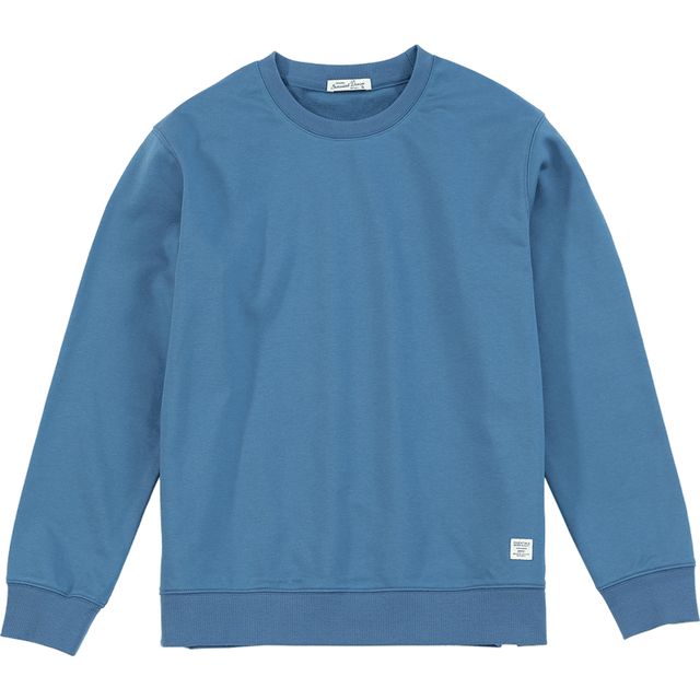 SIMWOOD 2021 Autumn New Hoodies Men Casual Minimalist Sweatshirt O-Neck Embroidery Logo Plus Size Basic Pullover  SI980547 6