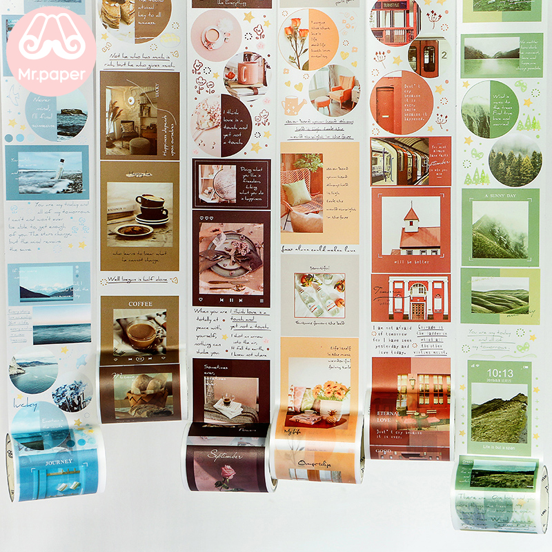 Mr Paper 8 Designs Matte Pet  Cute Cat Sea Decoration Journal Diy Pet Tape Gift Scrapbooking Masking Tape School Office Supply