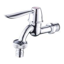 Outdoor Faucet Bibcock Water-Tap Washing-Machine Garden Bathroom Brass Chrome Luxury