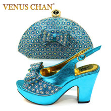 New Arrival Women Shoes and Bag Set In Italy Ladies