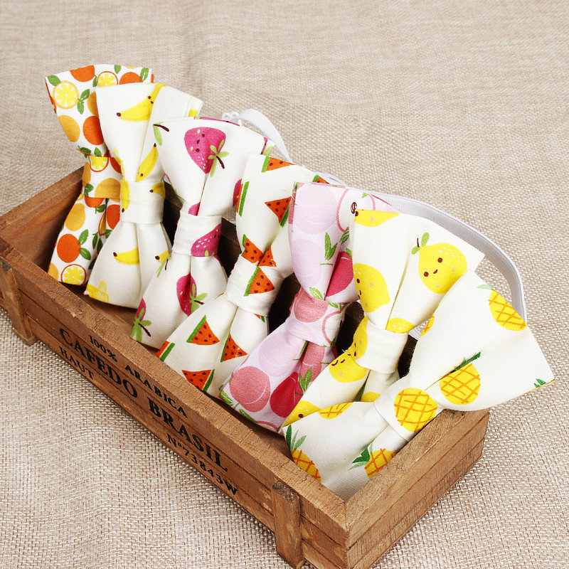 Classic Baby Kid Bow Ties Boy Children Pre Tie Tuxedo Bowties Banana Yellow Pear Lemon Printed Casual Bow Tie  Necktie Butterfly