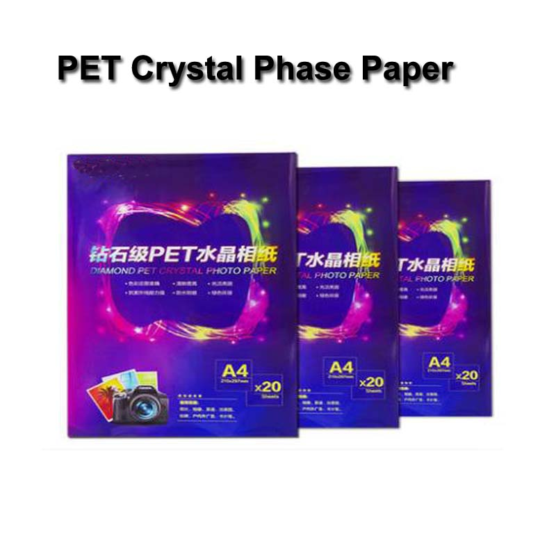 PET Crystal Paper PVC Photographic Paper Back Adhesive Card Photo Paper A4 Photo Album Card Bus Card Sticker