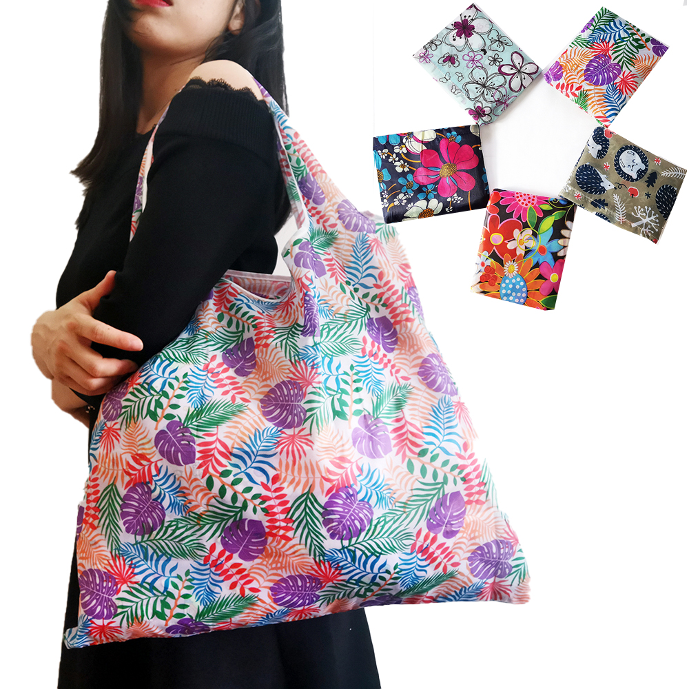 Reusable Shopping Bags Foldable Polyester Bag Eco Friendly Shopping Bag Large Capacity Grocery Bags Folding Shopping Bag Totes