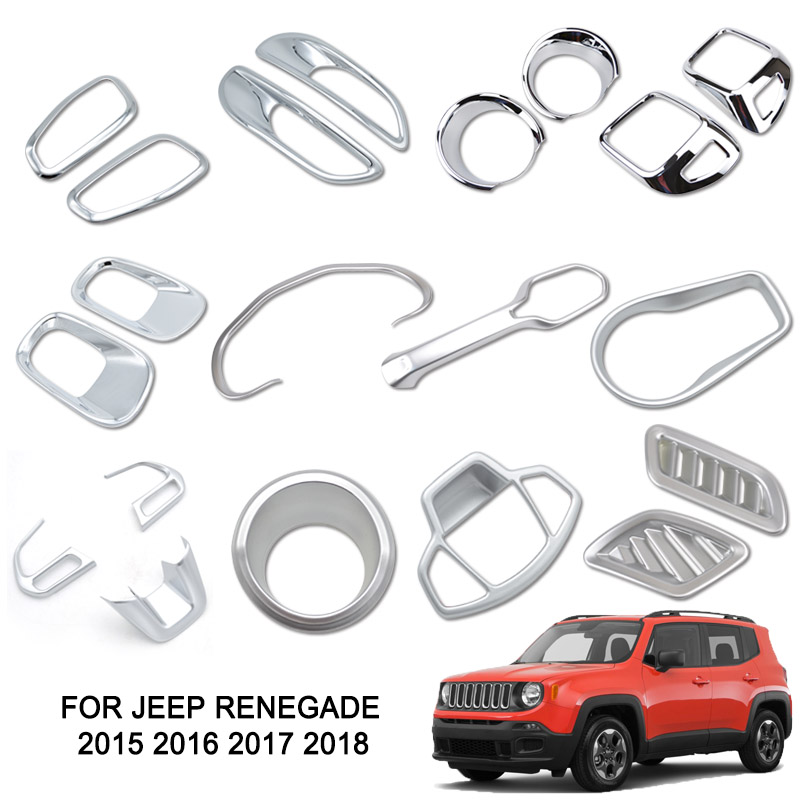 Daytime Light decorative cover trim for Jeep Renegade 2015 2016 2017-Orange