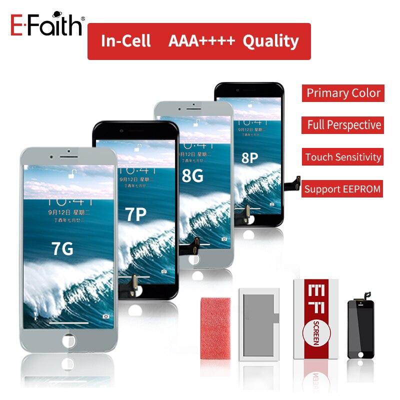 新セル内サポート EEPROM EFaith 10 ピース/ロット iphone 7 グラム 8 グラム 7 1080P 8P プラス液晶リアル 3D タッチスクリーン偉大な色表示画面  グループ上の 携帯電話 & 電気通信 からの 携帯電話用液晶ディスプレイ の中 1