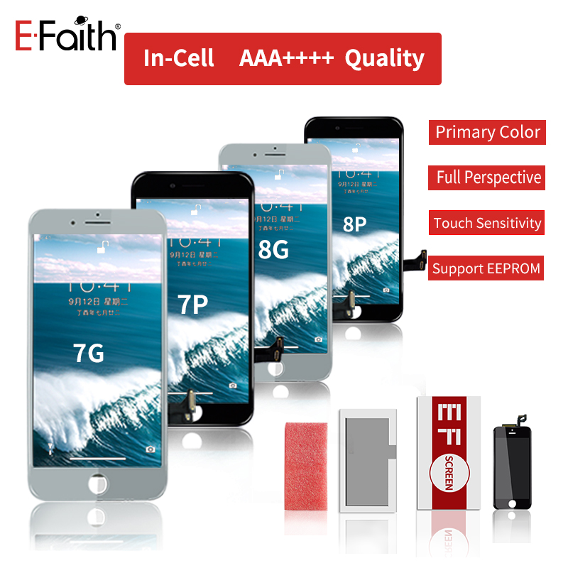 New incell Supporting EEPROM EFaith 10PCS/Lot For iPhone 7G 8G 7P 8P Plus LCD Real 3D Touch Screen great color Display Screen-in Mobile Phone LCD Screens from Cellphones & Telecommunications    1