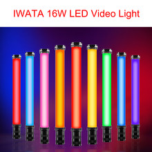 IWATA 16W Master R E Handheld RGB Bunte Volle Farbe Lce Stick LED Video Licht OLED Display mit 2200mAh Gebaut-in Batterie