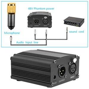 Image 4 - עבור Bm 800 מיקרופון 48V פנטום אספקת חשמל עם מתאם XLR אודיו כבל עבור הקבל מיקרו קריוקי מיקרופון Mikrofon