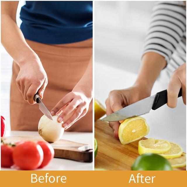 FHEAL 3 Fasi per Affilare i coltelli Professionali Da Cucina Affilatura di Pietra In Acciaio Al Tungsteno di Ceramica Coltelli Da Cucina Accessori 6