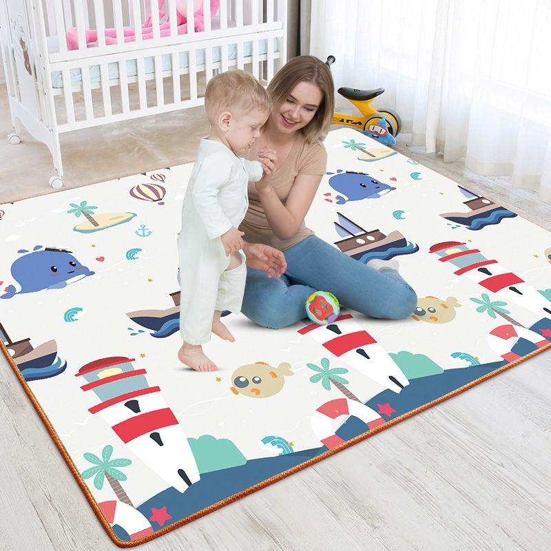 XPE 접는 놀이 매트 180X120cm 등산 패드 0.5cm 아기 크롤링 카펫 방수 유아 카펫 보육 활동 체육관에