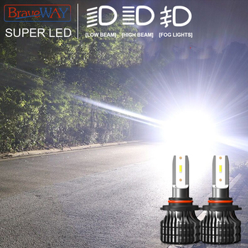 BraveWay H7 LED H4 Headlight Bulbs for Car H1 H11 HB3 HB4 9005 9006 Light 1860 Chips 12000LM 6500K 60W 12V Auto Fog Lamp LED Kit braveway h7 led h4 headlight bulbs for car h1 h11 hb3 hb4 9005 9006 light 1860 chips 12000lm 6500k 60w 12v auto fog lamp led kit