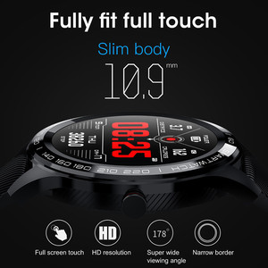 Image 2 - L9 smart watch men  PPG+ECG heart rate blood pressure monitor activity fitness tracker IP68 waterproof watches PK  iwo 10