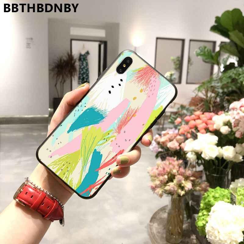 Disegno a colori di natura doodle art Coque Borsette Cassa Del Telefono per il iPhone 11 pro XS MAX 8 7 6 6S più di X 5 5S SE XR caso