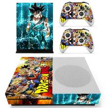 Dragon Ball Super Skin Sticker Decal For Xbox One S Console and Kinect and 2 Controllers