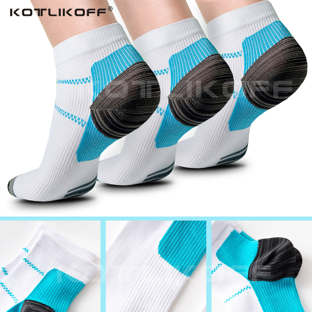 KOTLIKOFF Foot Pad Compression Socks For Plantar Fasciitis Heel Spurs Arch Pain Comfortable Socks Venous Ankle Sock Insoes