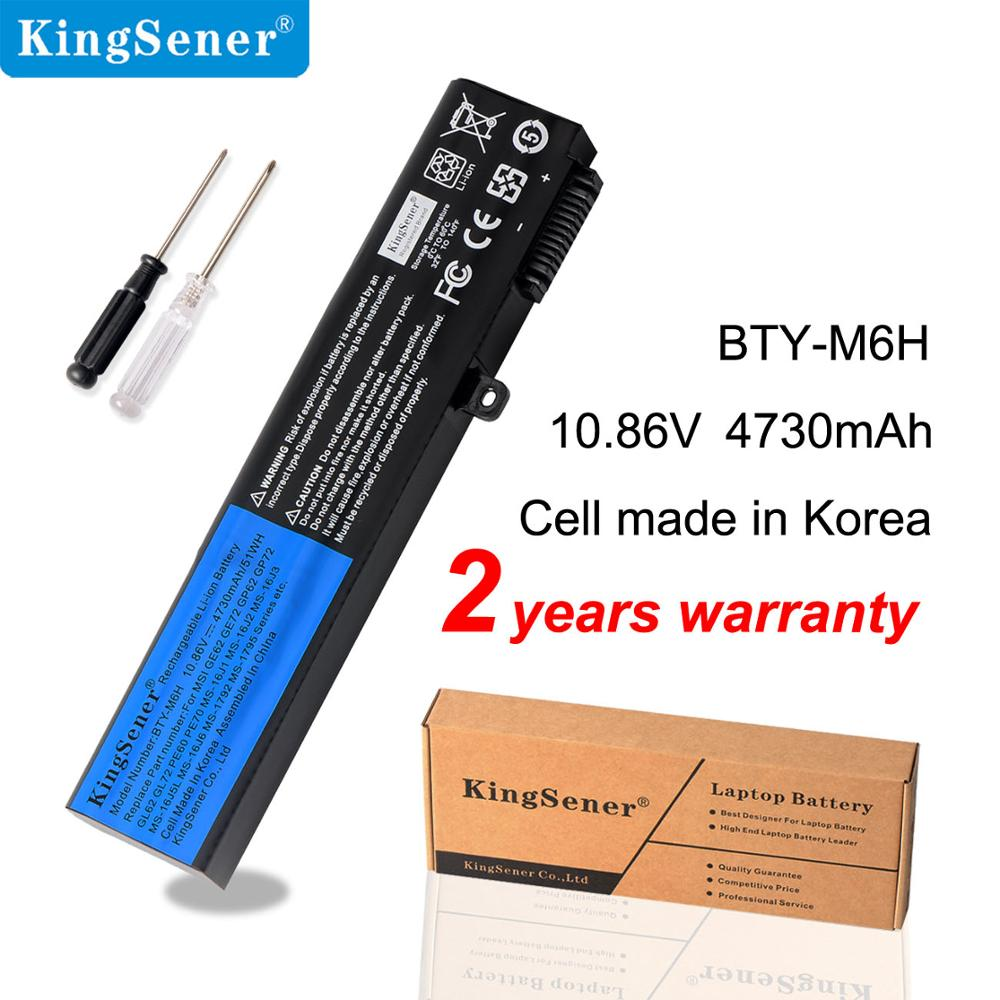 KingSener Korea Cell BTY-M6H Battery For MSI GE62 GE72 GP62 GP72 GL62 GL72 GP62VR GP72VR PE60 PE70 MS-16J2 MS-16J3 MS-16GF