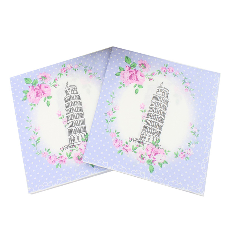 [Currently Available] Color Printed Napkin Pisa Italy Paper Towel Napkin Tissue Paper