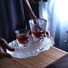 Cristallo satinato ghiaccio view rock master tazza mano tazza tazza singola ad alta temperatura resistente Giapponese di vetro congelato tazza di tè può essere cust