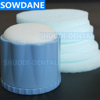 1 Pcs Dental Round Endo Stand + 6 Pcs Replacement Cleaning Foam Sponges Holder Autoclavable Teeth Cheaning