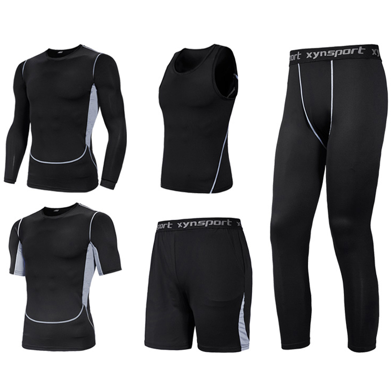 Multipack Compression Tracksuits Men's Sport Suit Big Size L-7XL 8XL Quick Dry Men's Running Sets Joggers Training Gym Fitness