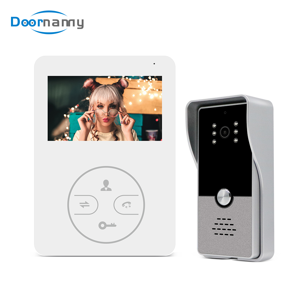 Doornanny 4Inch Video Intercom For Home Apartment Smart Ring Smart Doorbell Monitor Set Access Control System Auto Photograph