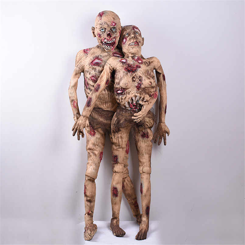 Halloween Decoration Horror Props Realistic Latex Men/Weomen Corpse Scary Accessories Creepy Bloody Ghost Doll Ropa Latex Mujer