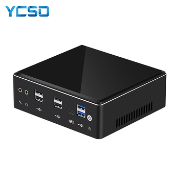 цена на Mini PC Intel Core i7 7500U 8650U Computer Windows 10 2*DDR4 M.2 SSD 8*USB DP Type-C 2*LAN WiFi 4K HTPC Micro Desktop NUC Minipc