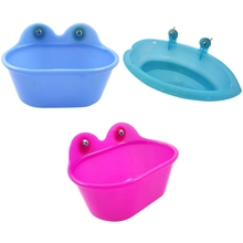 Bird Bathtub With Mirror Cage Mounted Small Parrot Pet Bath Shower Kit Bathing Supplies
