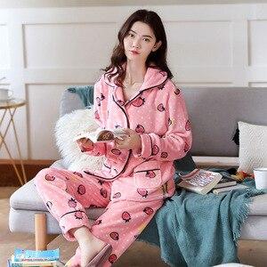 Image 4 - 2020 yetişkin pijama kadın pazen pijama Unisex sevimli Unicorn dikiş karikatür hayvanlı pijama setleri çocuklar kapşonlu pijama gecelik