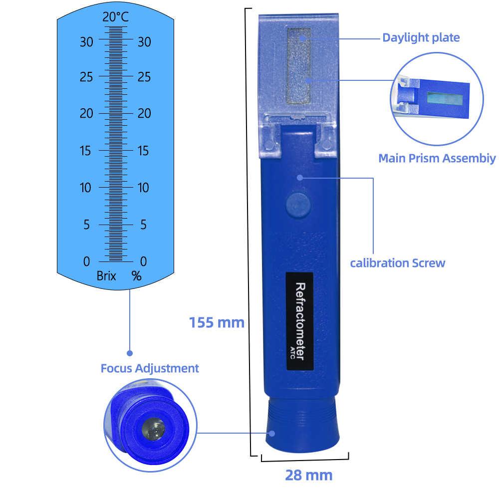 Floridivy Hand 0-40/% Brix 0-25/% Alkohol Refraktometer Bier Brix Refraktometer Bier Fruchtsaft Fruchtsaft Traube Wein Brewing Zucker-Test Meter