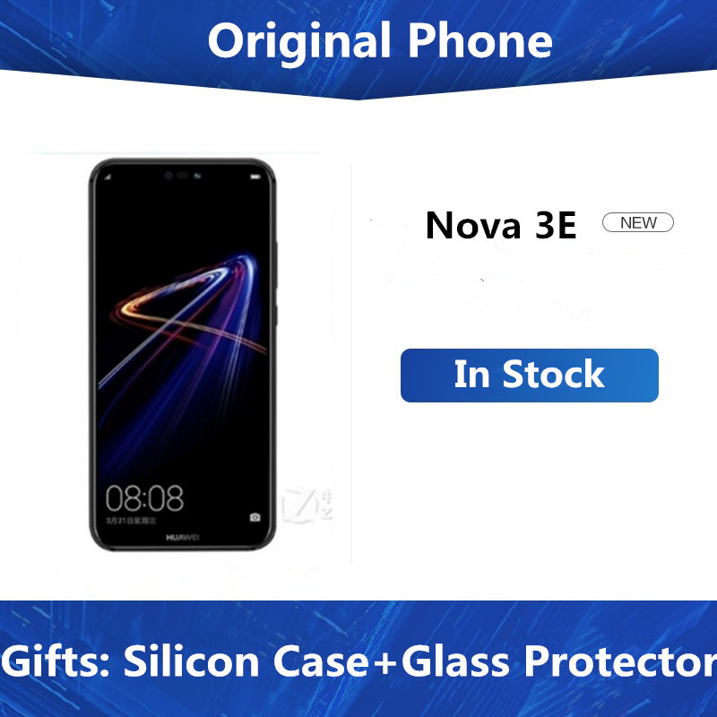 "Multi Talen Huawei P20 Lite Nova 3E 4G Lte Mobiele Telefoon Gezicht Id 5.84 ""Scherm Android 8.0 24MP front Camera 4Gb 128Gb Rom"