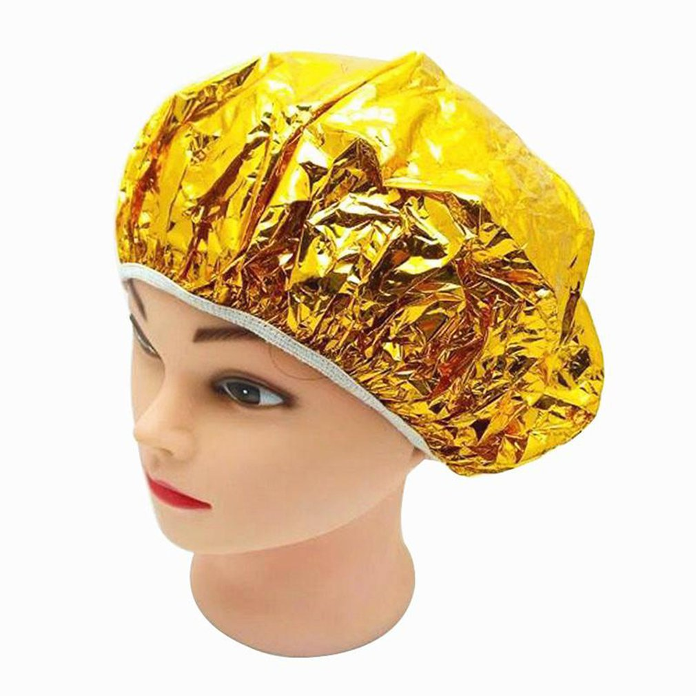 Shower Cap Disposable Aluminum Foil Waterproof Bath Hoods Baking Oil Hair Cap Silver Golden Aluminum Foil
