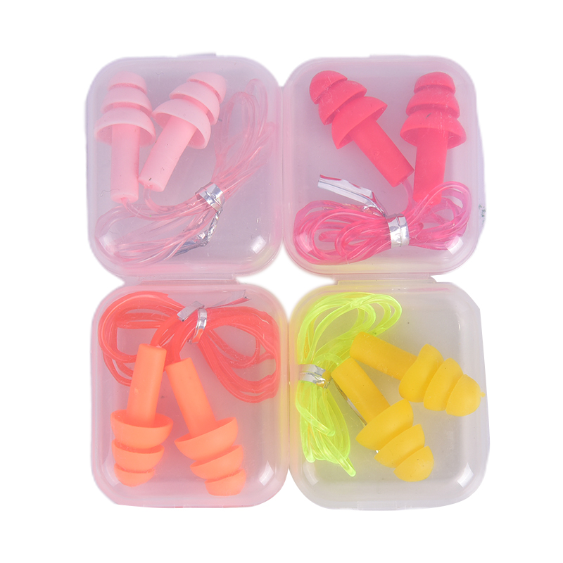 Мягкие силиконовые беруши, 1 пара, удобные беруши для ушей, шумоподавление, ПВХ, беруши для плавания и сна
