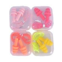 1 paar Silikon Weichen Ohr Stecker Komfort Ohrstöpsel Noise Reduktion PVC Seil Ohrstöpsel Schutzhülle Für Schwimmen Für Schlaf