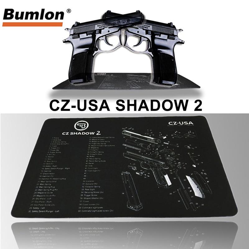 CZ shadow 2 pistolet nettoyage banc tapis en caoutchouc tapis imperméable antidérapant avec Instructions Armourist banc tapis pour pistolet airsoft propre