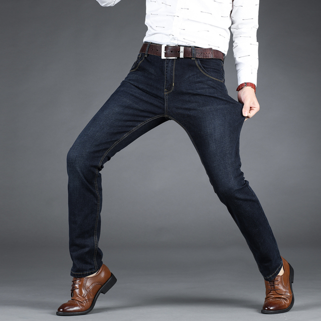 Business Style Slim fit Straight Jeans  3