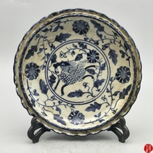 Ancient Jingdezhen Porcelain Blue and White Porcelain Kirintu Porcelain Plate Living Room porcelain print fit